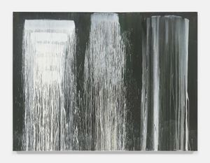 Three Times Waterfall by Pat Steir contemporary artwork