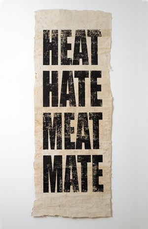 Untitled (HEAT/HATE/MEAT/MATE) by Newell Harry contemporary artwork