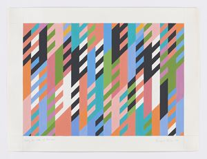 Study for Code of Manners by Bridget Riley contemporary artwork
