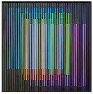 Chromointerférence spatiale B, Paris by Carlos Cruz-Diez contemporary artwork sculpture