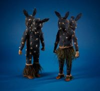 Prince and Darkness by Linde Ivimey contemporary artwork sculpture