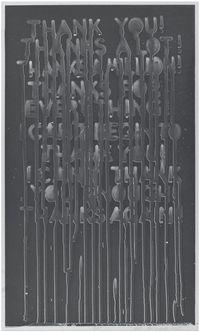 Thank You by Mel Bochner contemporary artwork print