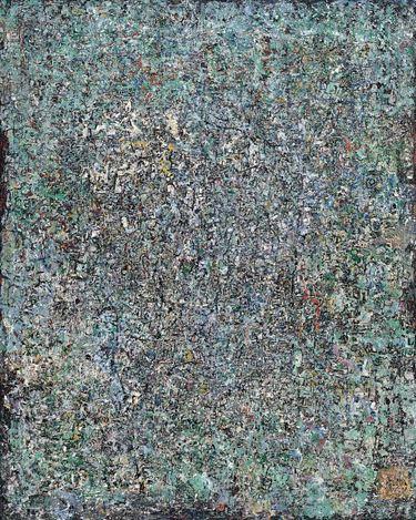 陳蔭羆, 靜, 1960s, 油彩‧混合媒材‧畫布, 152.2x121.7cm