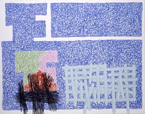 Were 8 on Its Side by Jonathan Lasker contemporary artwork