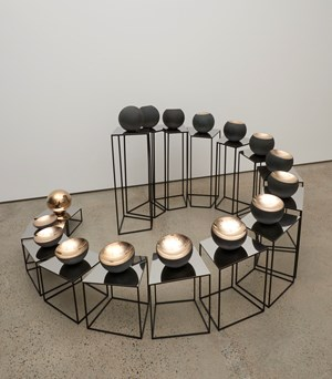 Bronze Tsukimi: No.1 by Marion Borgelt contemporary artwork