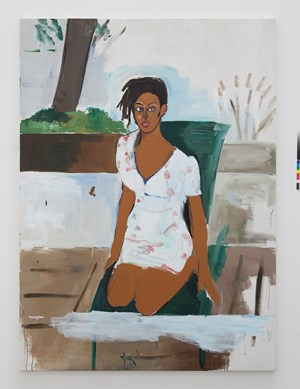 Deana Lawson in the Lionel Hamptons by Henry Taylor contemporary artwork