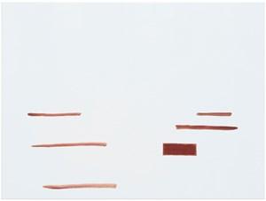 ohne Titel (Wirklichkeit erschlägt Kunst) 10 by Michael Krebber contemporary artwork