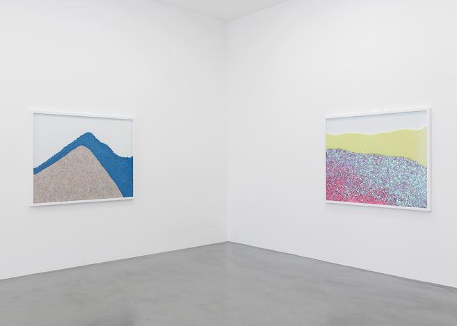 Exhibition view: Lionel Estève, Chemical Landscape, Perrotin, Paris (7–21 September 2019). Courtesy Perrotin.