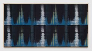 Negative Entropy (RSK Sanyo Broadcasting, Master Control Switchboard, Blue, Hex) by Mika Tajima contemporary artwork