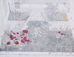 Flower Beds in the Garden of My Apartment by Yukiko Suto contemporary artwork
