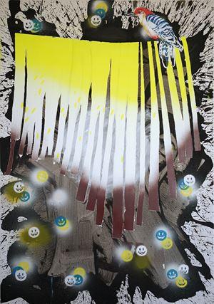 Smiley Rain by Daniel González contemporary artwork