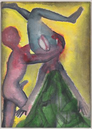 A Story Well Told XVIII by Francesco Clemente contemporary artwork