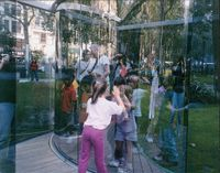 Fun for Kids at my Work in a Park in Manhattan, 2003 (For Parkett 68) by Dan Graham contemporary artwork photography