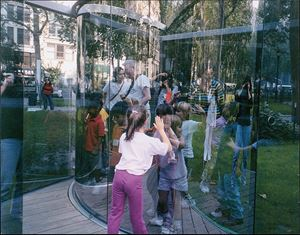 Fun for Kids at my Work in a Park in Manhattan, 2003 (For Parkett 68) by Dan Graham contemporary artwork