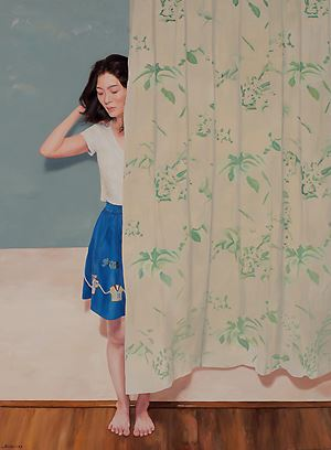 Stand Behind A Curtain by Chong Ai Lei contemporary artwork