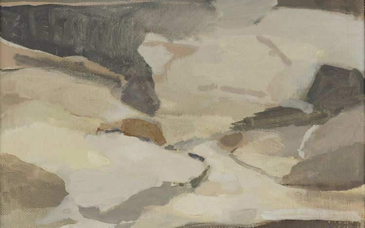 Deborah Tarr, Cartmel (2020) (detail). Oil on canvas. 45 x 55 cm. Courtesy Cadogan Contemporary.
