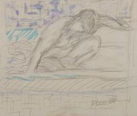 Nu accroupi by Pierre Bonnard contemporary artwork painting, works on paper, drawing