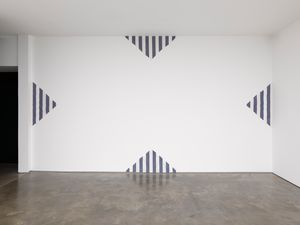 A Work in four parts for one wall by Daniel Buren contemporary artwork