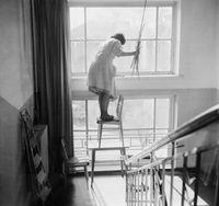 Window Cleaner, Vilnius by Antanas Sutkus contemporary artwork photography