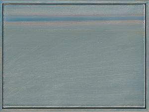 """Ligne bleue"" by Geneviève Asse contemporary artwork"