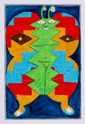 Untitled (moth) #1 by Brendan Huntley contemporary artwork