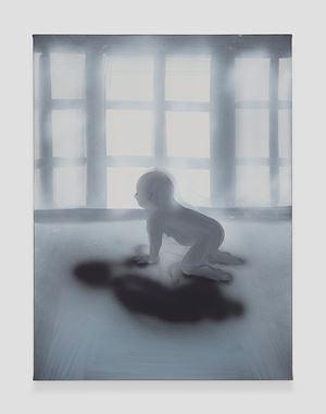 Crawling Morning (Window) by Tala Madani contemporary artwork