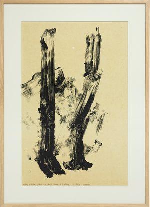 Arbres et rochers, sur les chemins de Bibémus, étude no.11 by Fabienne Verdier contemporary artwork