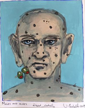 Moles and Olives by Violet Costello contemporary artwork