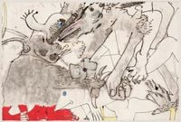 Conejo [Rabbit] by Knox Martin contemporary artwork painting, works on paper, drawing