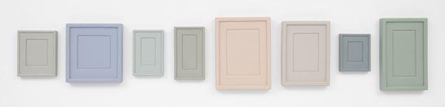 Collection of Eight Plaster Surrogates by Allan McCollum contemporary artwork