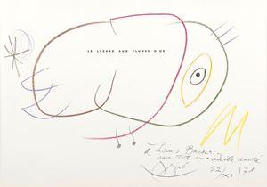 Le lézard aux plumes d'or by Joan Miró contemporary artwork