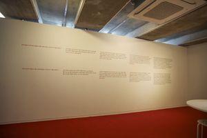 Red Materials by Seonggyu Maeng contemporary artwork installation