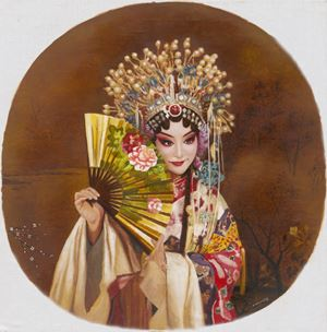 The Drunken Beauty by Mi Qiaoming contemporary artwork