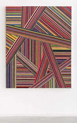 Wool Painting (Boundless Panorama) by Jim Lambie contemporary artwork