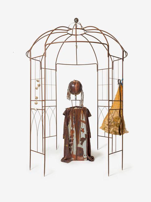 """DER PAVILLLLON """"SELBST"""" OHNE BESCHEINIGUNG ABER MIT HOHLSAHNE! by Jonathan Meese contemporary artwork"""