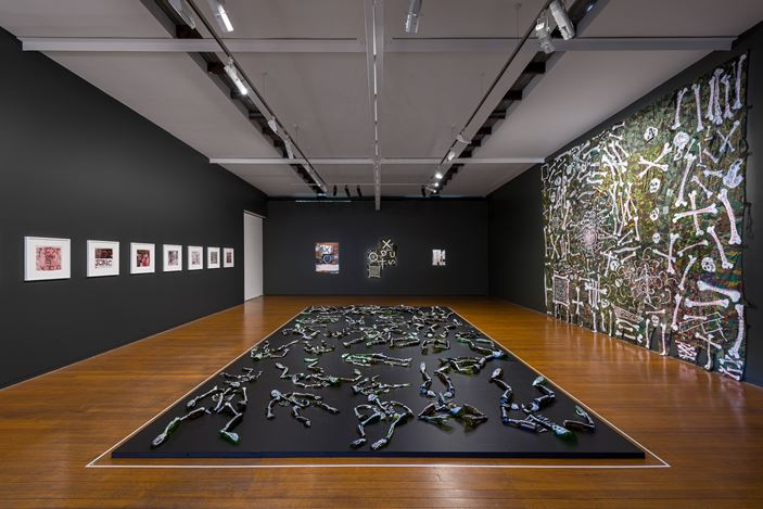 Exhibition view: Fiona Hall, Afraid Cascade, Roslyn Oxley9 Gallery, Sydney (6–28 March 2020). Courtesy Roslyn Oxley9 Gallery. Photo: Luis Power