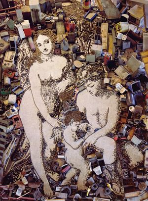 The Education of Cupid, after Correggio by Vik Muniz contemporary artwork