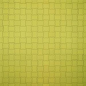 Color Code of a World Political Map, Little Fat Flesh Puzzled Face (White Yellow) by Inga Svala Thórsdóttir & Wu Shanzhuan contemporary artwork