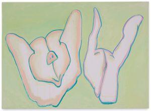Schweinderln (Piggies) by Maria Lassnig contemporary artwork painting