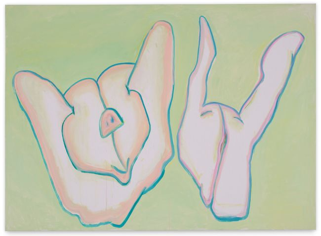 Schweinderln (Piggies) by Maria Lassnig contemporary artwork