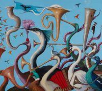 Hullabaloo by Joanna Braithwaite contemporary artwork painting