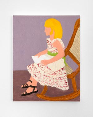 Rocking Chair Reader by March Avery contemporary artwork