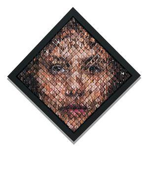 Retrato aleatorio femenino -De la serie Ejercicios estocásticos by Pablo Boneu contemporary artwork