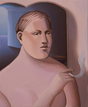 A Gazer with cigarette by Jin Hee Kim contemporary artwork