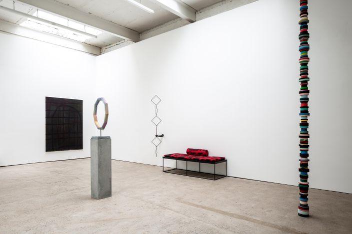 Exhibition view: Eva Rothschild, Peak Times, The Modern Institute, Aird's Lane, Glasgow International (11 June–1 September 2021). Courtesy the Artist and The Modern Institute/Toby Webster Ltd, Glasgow. Photo: Keith Hunter.