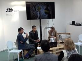 ASIA NOW 2018 || Liu Bolin (artist), Romain Degoul (Galerie Paris-Beijing) & Li Yu Yeo (curator)