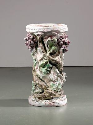 Table leg by Lucio Fontana contemporary artwork