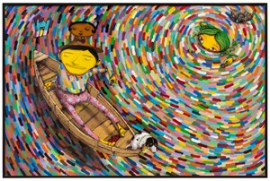 Eclipse of the sun by OSGEMEOS contemporary artwork