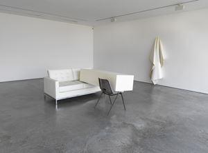 Transfer (Ivory) by Angela De La Cruz contemporary artwork installation
