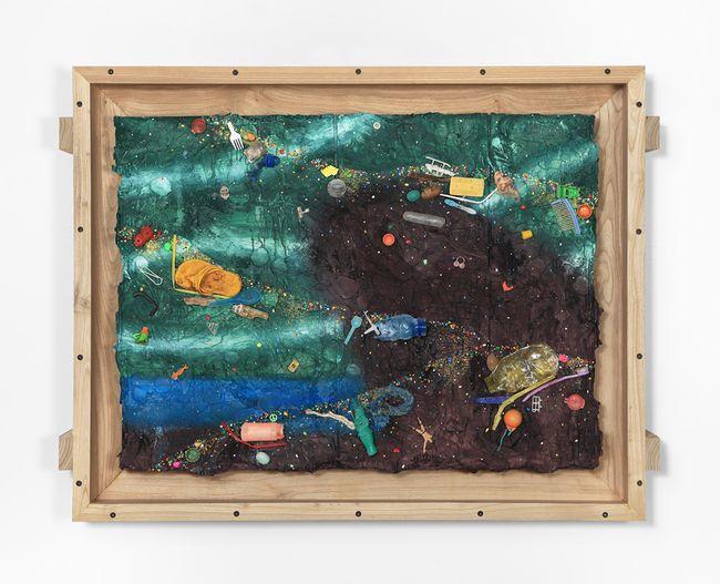 Black Rock by Ashley Bickerton contemporary artwork